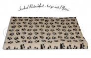 Isobed Rutschfest beige mit Pfoten 100 x 150 cm