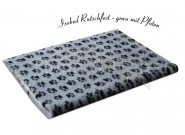Isobed Rutschfest grau mit Pfoten 75x 100cm