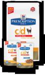 Hills Feline c/d Urinary Stress Chicken 1 x 85 g (Frischebeutel)