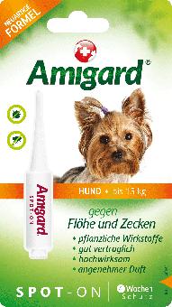Amigard Spot-on Hunde bis zu 15 kg - 1 x 2ml