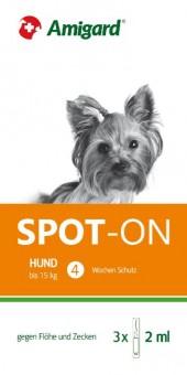 Amigard Spot-on 3er Packung Hunde bis zu 15 kg - 3 x 2ml