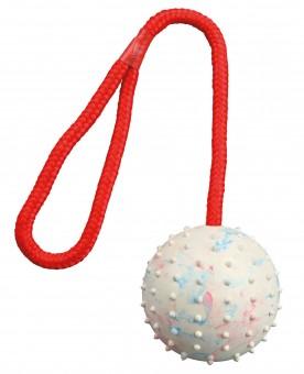 Naturgummi Ball am Seil
