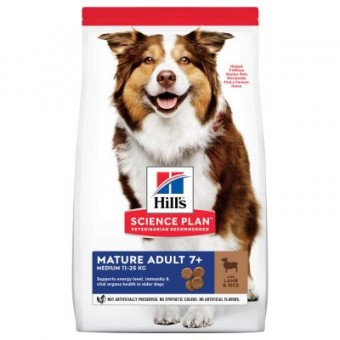 Hills Science Plan Mature Adult 7+ Medium Lamm und Reis 2,5 kg (Hund)