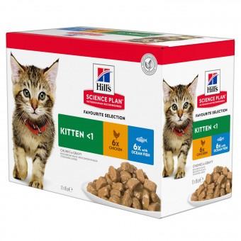 Hills Science Plan Kitten Frischebeutel Huhn & Seefisch