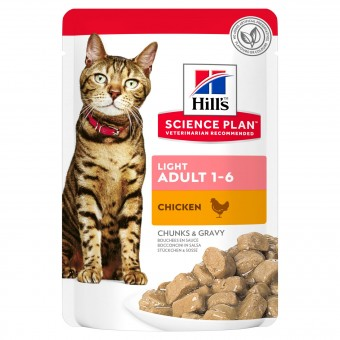 Hills Science Plan Light Adult Katzenfutter Frischebeutel Huhn