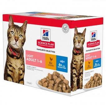 Hills Science Plan Feline Light Adult Frischebeutel Huhn & Seefisch