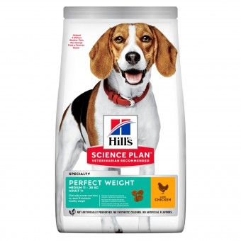 Hills Science Plan Perfect Weight Medium Adult Hundefutter
