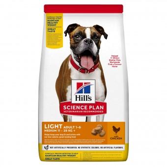 Hills Science Plan Light Medium Adult Hundefutter