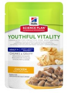 Hill's Science Plan Feline Adult 7+ Youthful Vitality Huhn