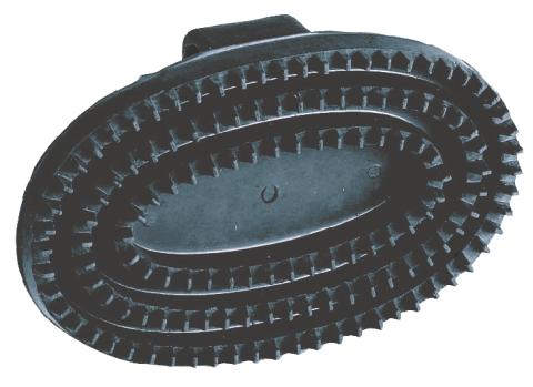 Gummistriegel oval