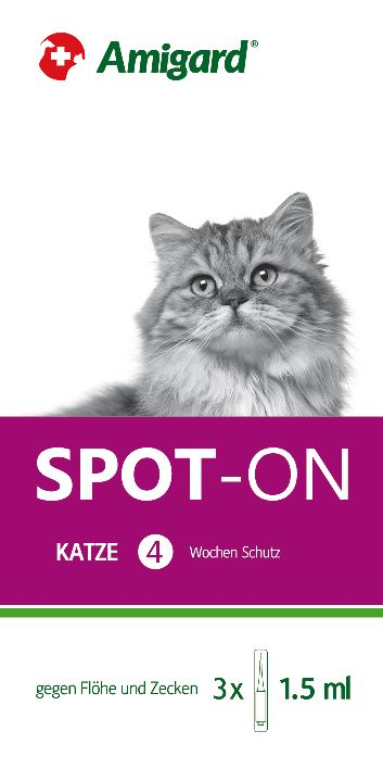 Amigard Spot-on 3er Packung Katze - 3 x 1,5ml
