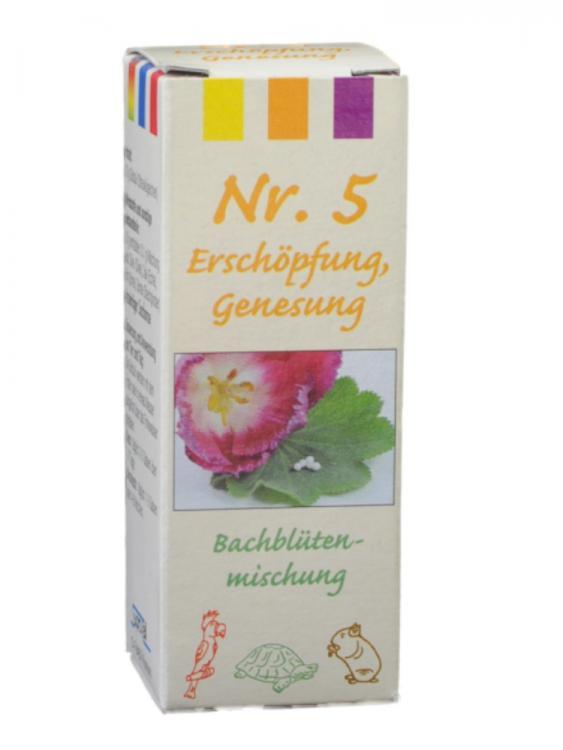 Bachblütenmischung Nr. 5 Erschöpfung