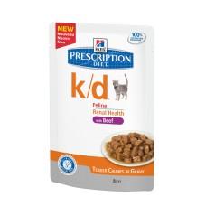 Hills Feline k/d Beef 12 x 85 g (Frischebeutel)