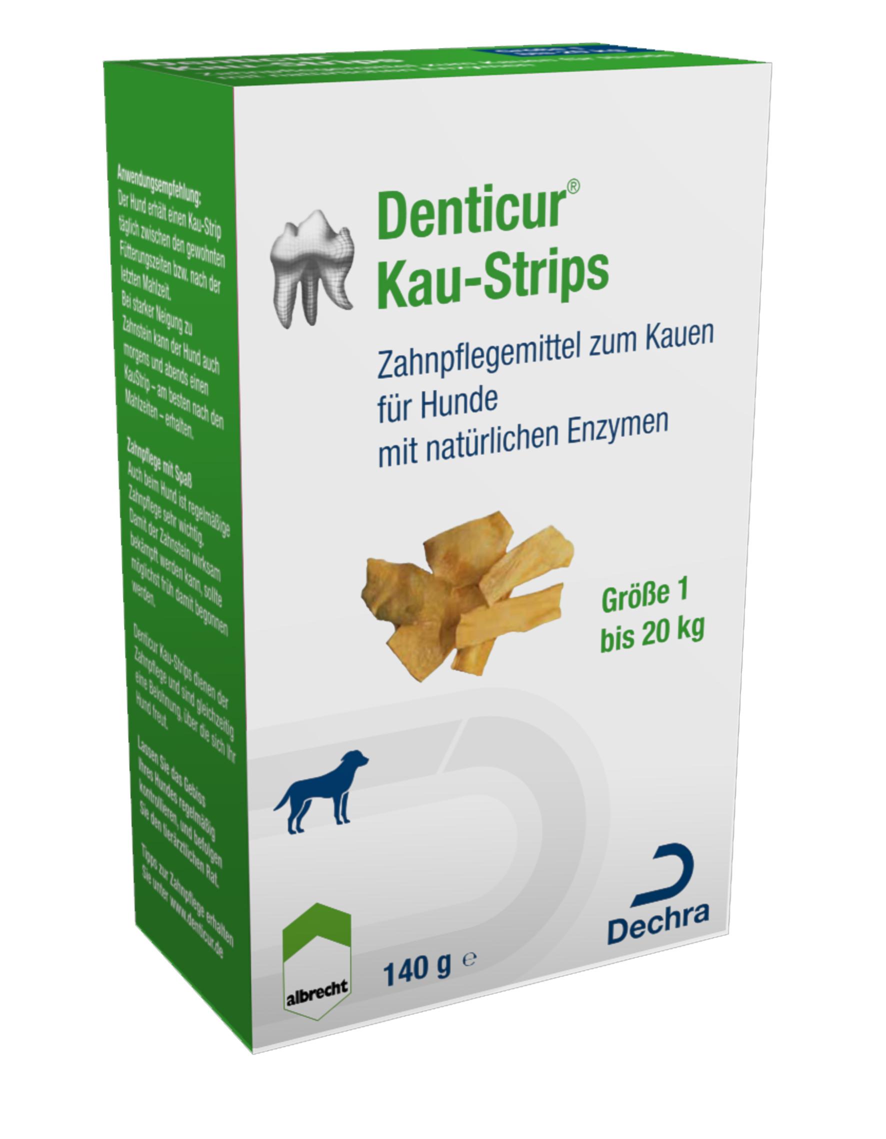 Albrecht Denticur Kau-Strips Nr. 1 140g - Gr. 1 für Hunde bis 20 kg