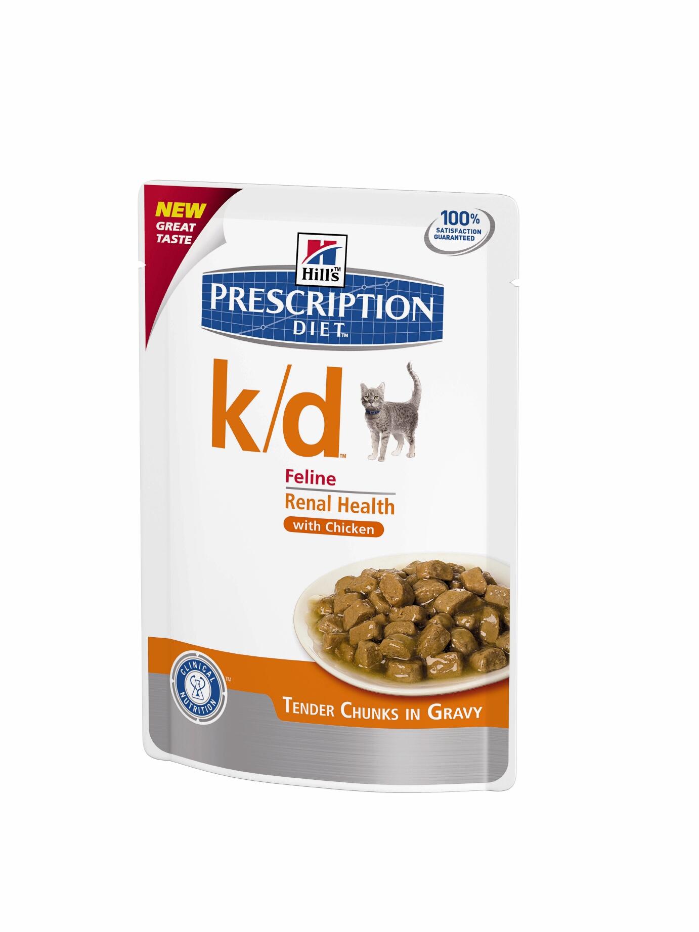 Hills Feline k/d Chicken 12 x 85 g (Frischebeutel)
