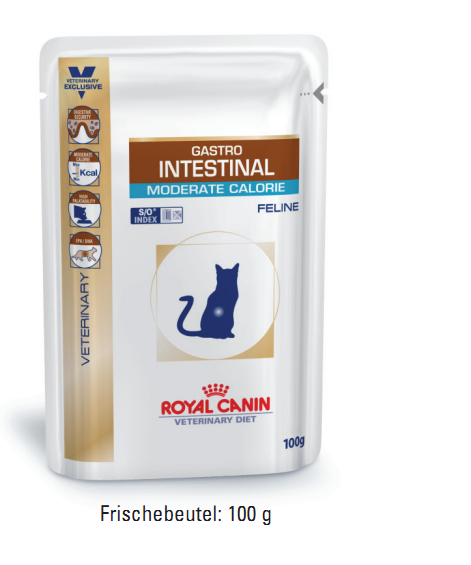 Royal Canin Gastro Intestinal Moderate Calorie 12 x 100 g (Frischebeutel)