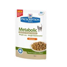 Hills Feline Metabolic 12 x 85 g (Frischebeutel)