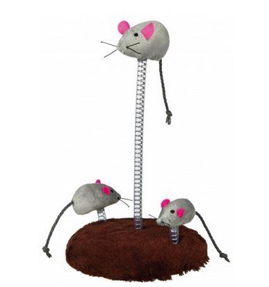 Mäuse-Familie auf Feder, Plüsch