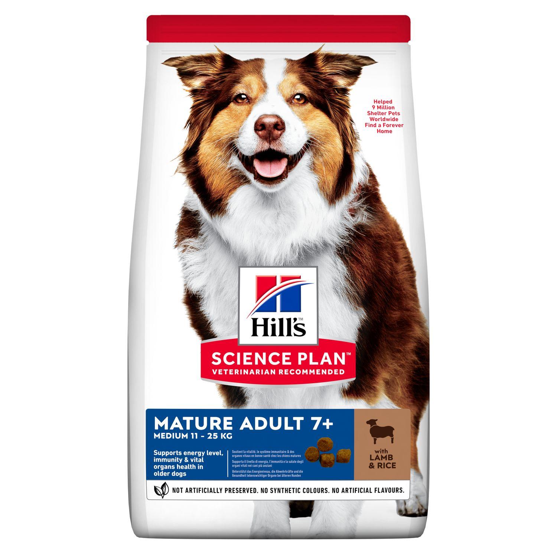 Hills Science Plan Hund Mature Adult 7+ Medium Lamm und Reis