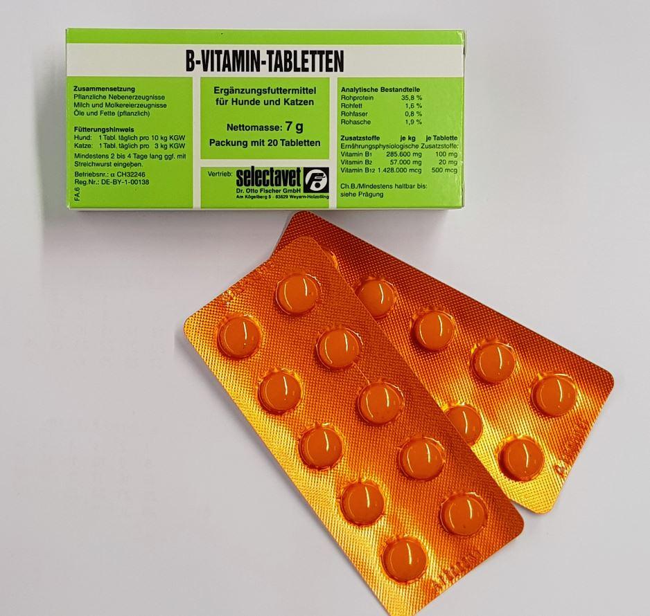 Selectavet B-Vitamin 20 Tabletten