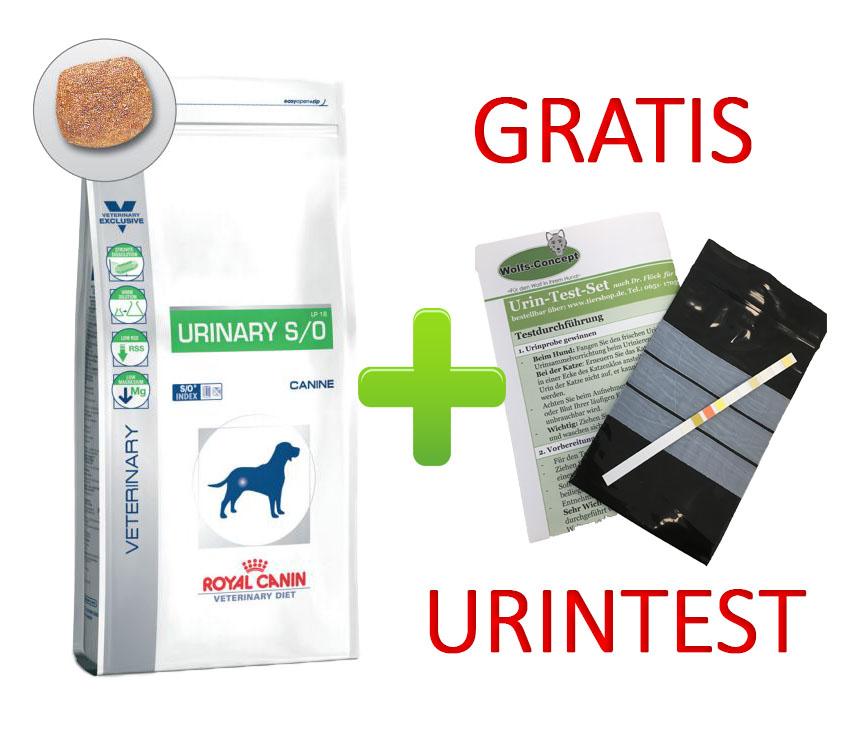 Royal Canin Urinary + Urintest 14 kg (Hund)