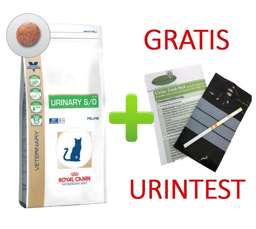 Royal Canin Urinary S/O + Urintest 7 kg (Katze)