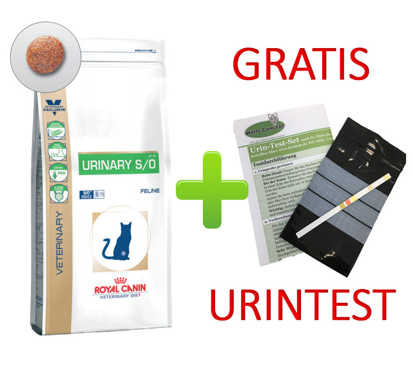 Royal Canin Urinary S/O + Urintest 9 kg (Katze)