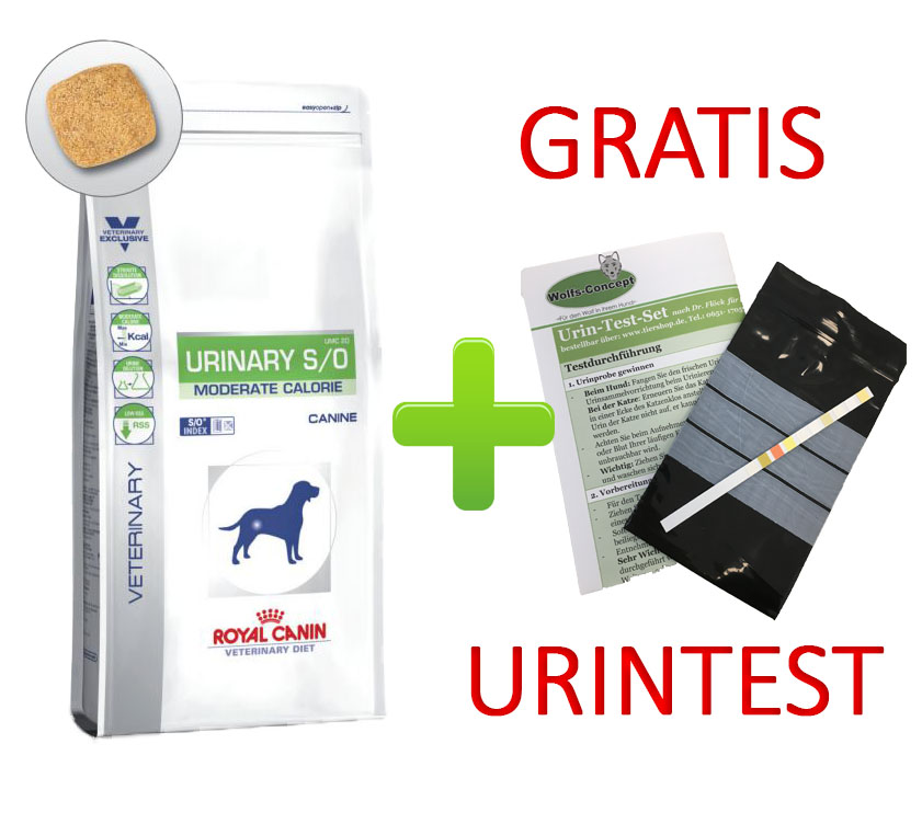 Royal Canin Urinary S/O Moderate Calorie + Urintest 12 kg (Hund)