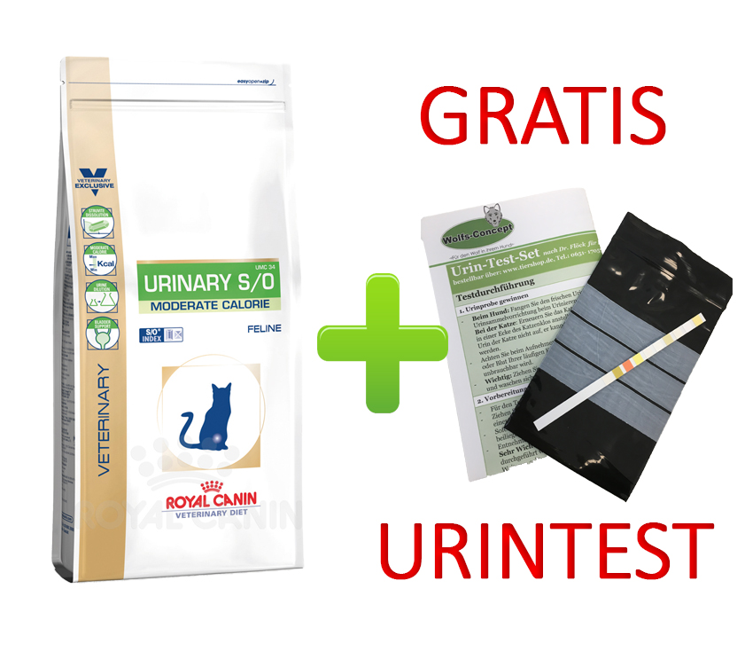 Royal Canin Urinary S/O Moderate Calorie + Urintest 9 kg (Katze)