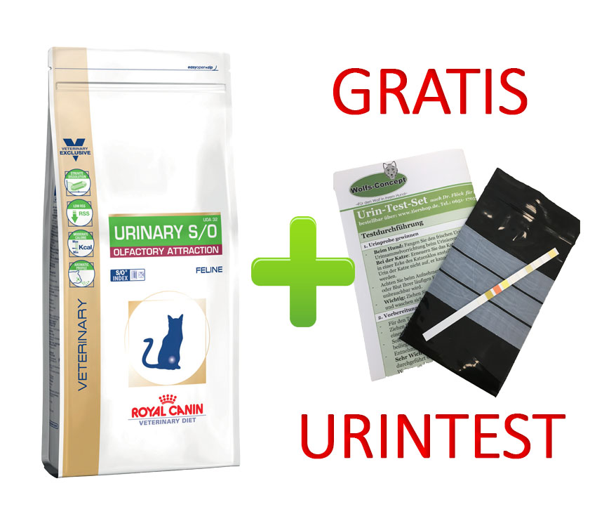 Royal Canin Urinary S/O Olfactory Attraktion Fisch + Urintest 1,5kg
