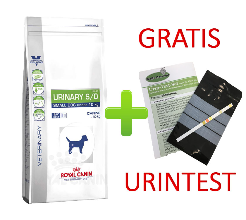 Royal Canin Urinary S/O Small Dog + Urintest 8 kg (Hund)