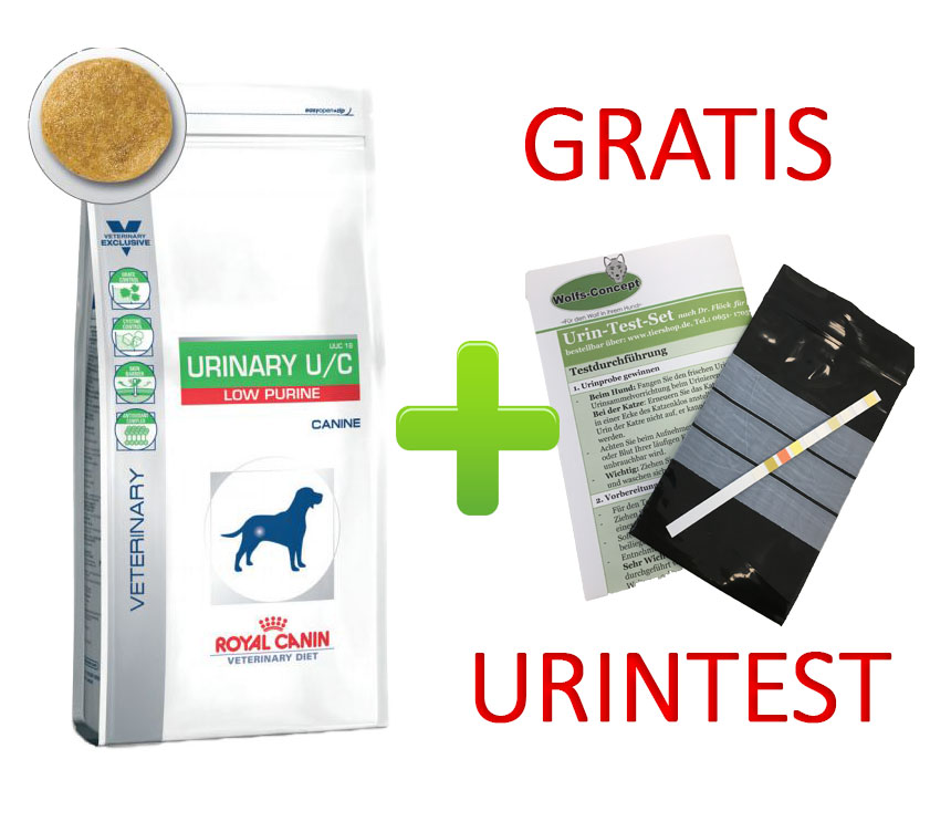 Royal Canin Urinary U/C Low Purine + Urintest 2 kg (Hund)