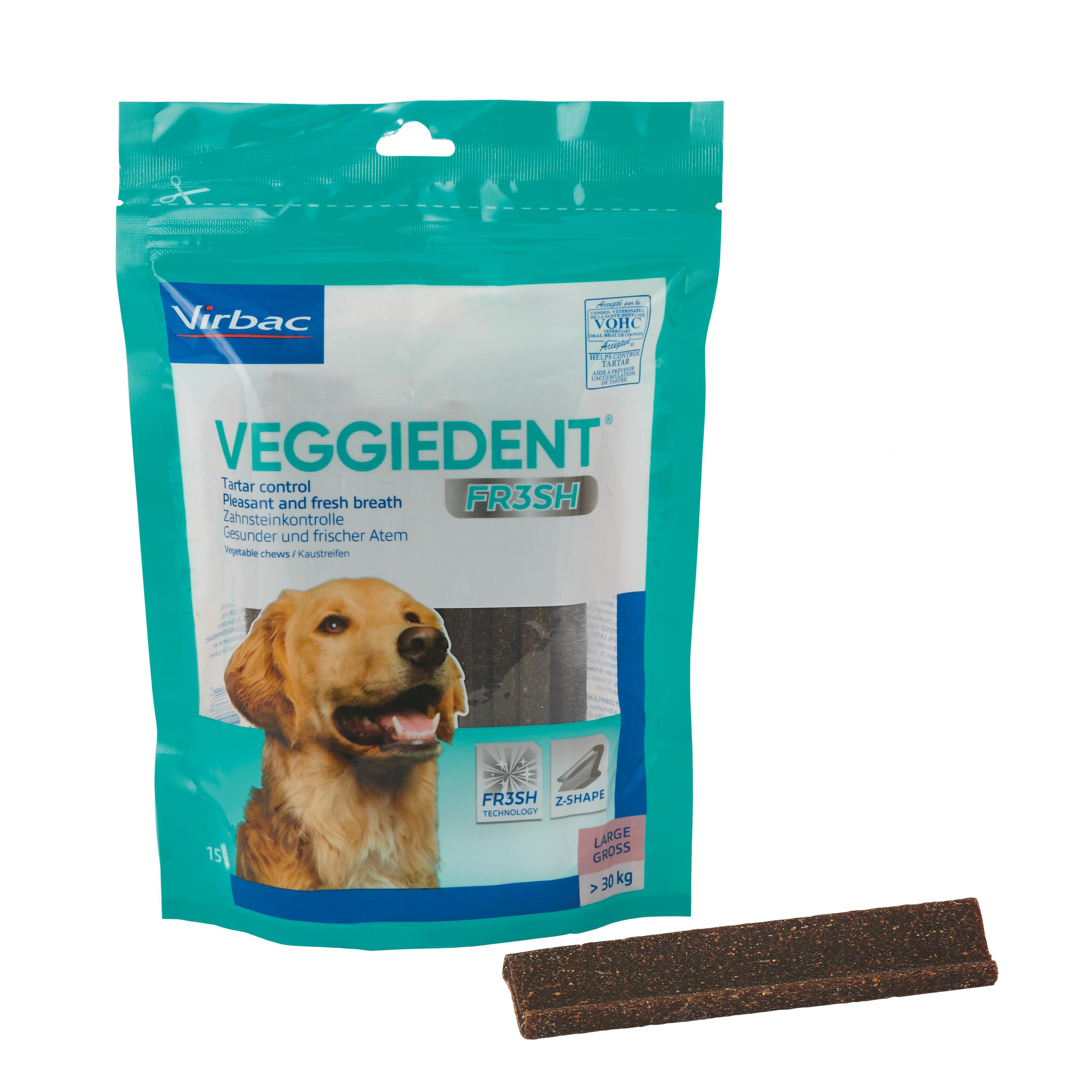 Veggie Dent Kaustreifen L für Hunde ab 30 kg