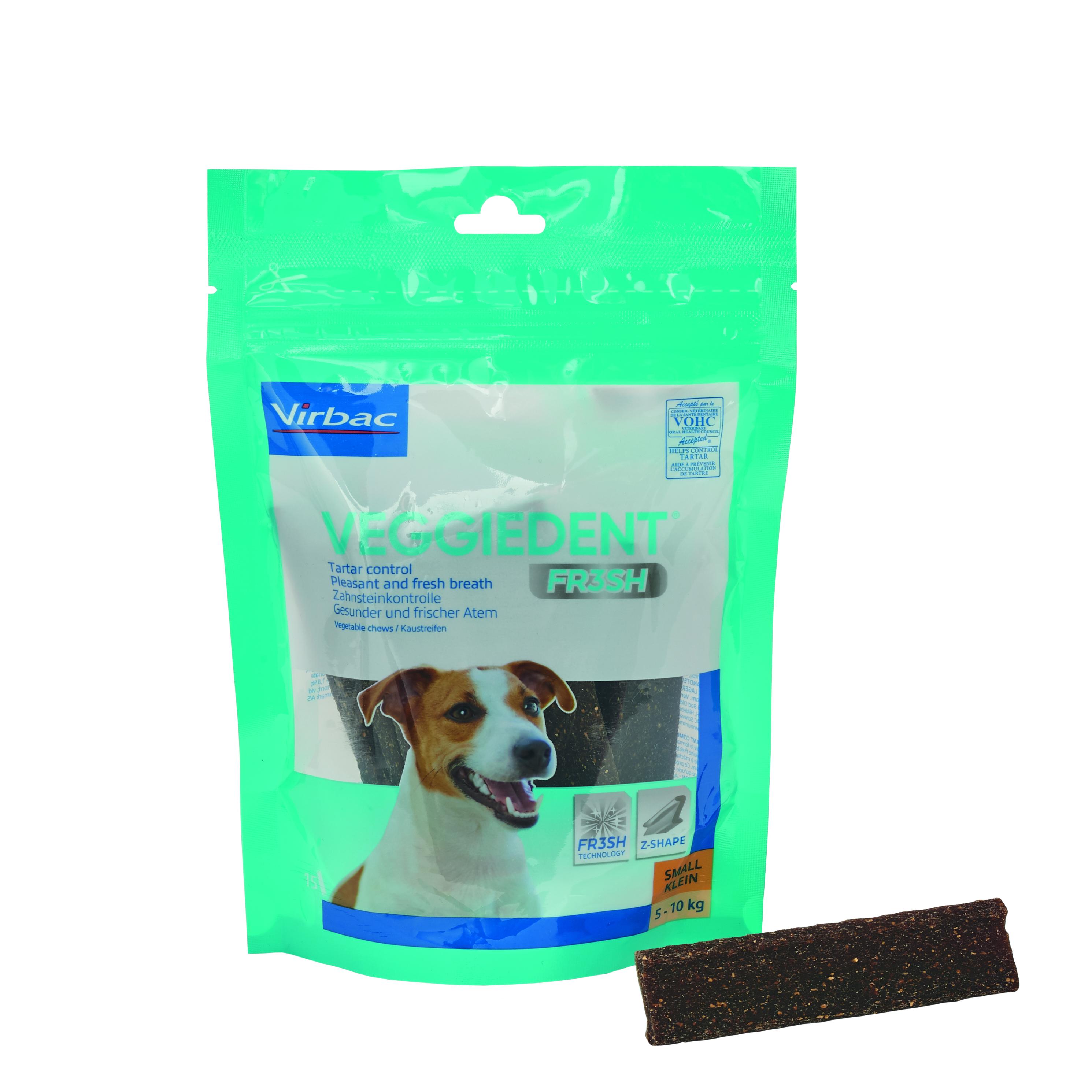 Veggie Dent Kaustreifen S für Hunde von 5 - 10 kg