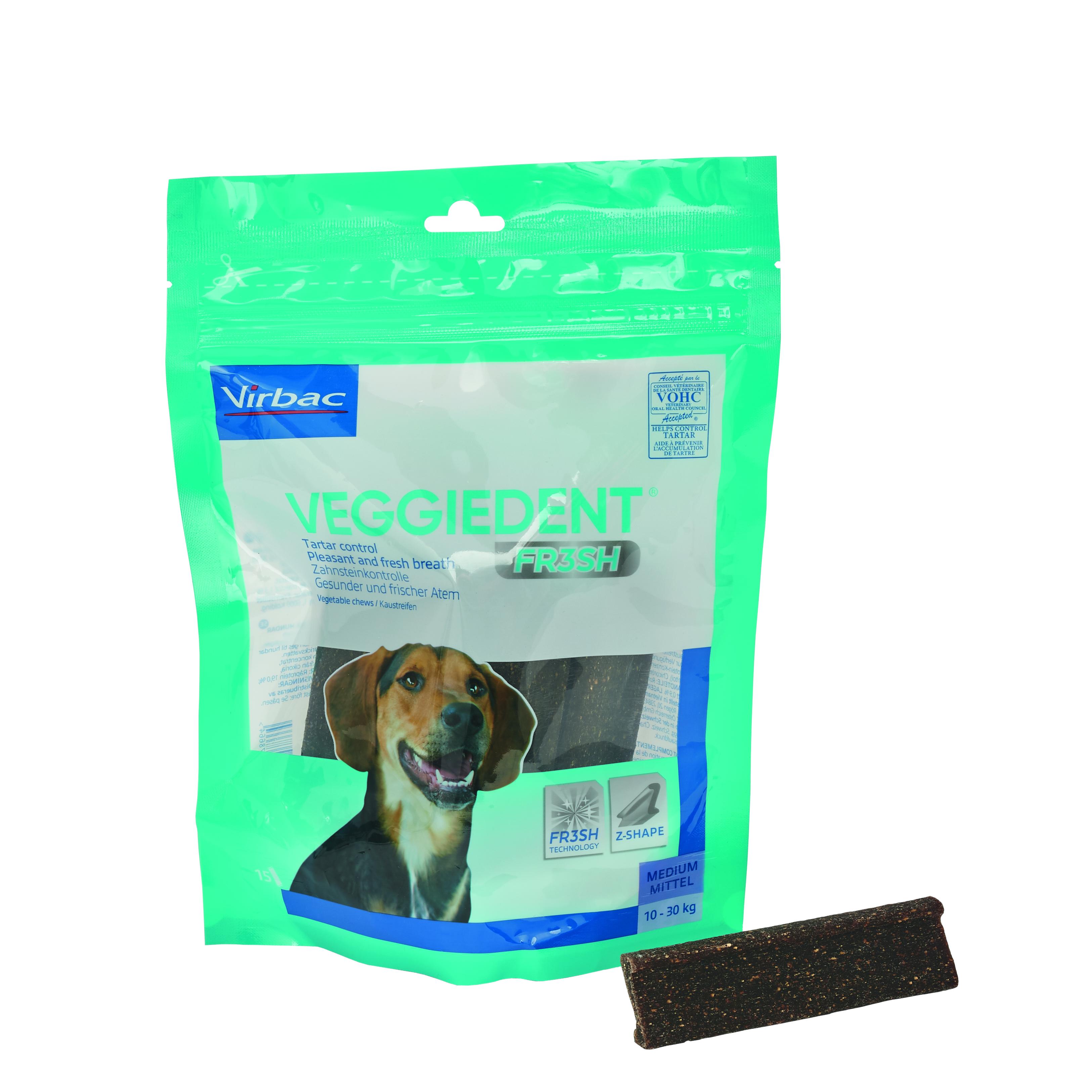 Veggie Dent Kaustreifen M für Hunde von 10 - 30 kg