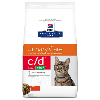 Hills Feline c/d Urinary Stress Reduced Calorie 4 kg (Trockenfutter)