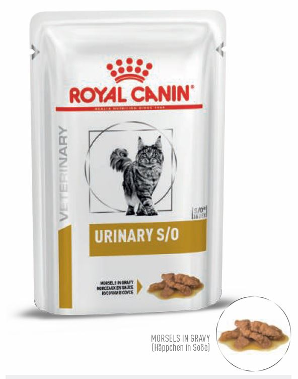 Royal Canin Urinary S/O Häppchen in Soße 12 x 85 g (Frischebeutel)