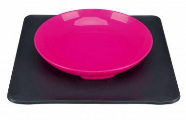 Yummynator Napfsystem Farbe: pink / grau Maße: 400 ml, 24 × 24 cm